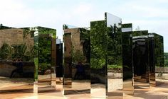 'Simplified Mirror Labyrinth 1', Jeppe Hein - Artist's Playground, Sudely Castle, UK
