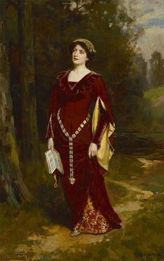 Abbey Altson (British, 1866-1949) A moment of reflection