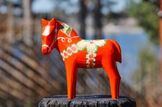 Traditional Horse painted Dala Style