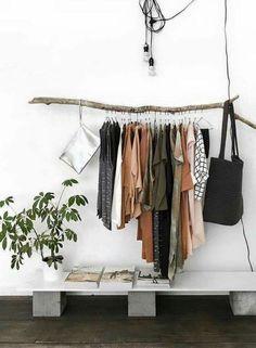 Hängende Kleiderstange hängende kleiderstange als schöne und einfache diy idee wohnen