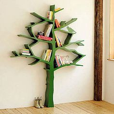 Knowledge Tree Bookcase in Green from PoshTots - I want this for my elementary school library