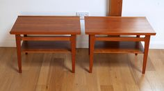 Pair of Solid Teak Lamp Tables by Finn Juhl for France & Son c.1957