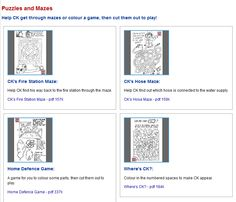 Puzzles and Mazes  Help CK get through mazes or colour a game, then cut them out to play!