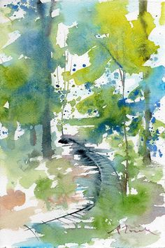 Worcester Sketchbook No.7 original by WaterWorksbySumiyo on Etsy, $45.00