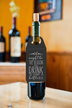 Great idea for wine bottles, and gifting them to a friend, boss, or secret santa gifts. #wine #secretsanta #drink #holidays #christmas #gifts #affiliate