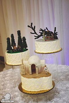 Star Wars Scenes Reproduced In Cake