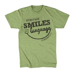 Smiles are universal! Available in youth sizes!