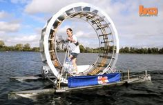 Treadalo Human-Powered Hamster Wheel Boat by Chris Todd