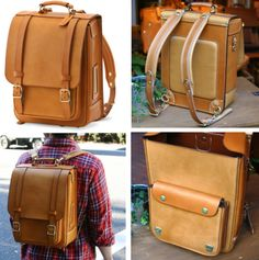 Leather Men, Leather Bags, Leather Backpacks, Vintage Leather, Backpack Bags, Duffle Bags, Messenger Bags, Leather Craft, Handmade Leather