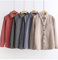 College Fashion, College Style, Plaid Shirt Women, Modern Hijab Fashion, Spring New, Spring Shirts, Office Ladies, Blouses For Women, Casual Outfits