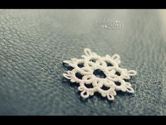 Tatting tutorial #1 - a little snowflake :) - YouTube *