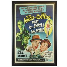 """""""Abbott and Costello Meet Dr. Jekyll & Mr. Hyde"""" Original Vintage Movie Poster 