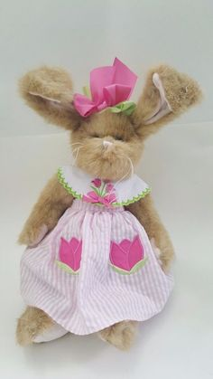 4b2fdf7bc34 Details about The Bearington Collection Taylor Tulips Jointed Bunny Rabbit  plush StuffedAnimal