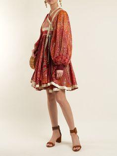 Click here to buy Etro Bangalore paisley-print cotton-blend wrap dress at MATCHESFASHION.COM