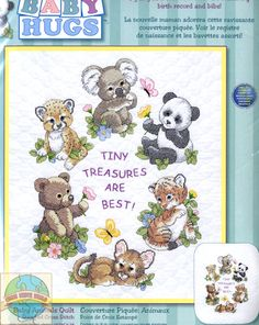 Dimensions Baby Hugs  - Baby Animals Quilt - Cross Stitch World