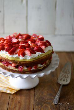 LEMON POUND CAKE WITH HONEY SWEETENED LEMON CURD, CREAM AND BERRIES ...