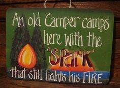 Camping Sign Camper lives with Spark by terisrobinnest on Etsy, $8.95