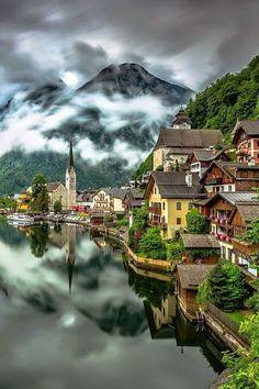 Lac Hallstättersee, Autriche