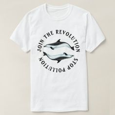 Join the Revolution T-Shirt - ocean side nature waves freedom design