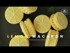 레몬 마카롱 만들기 : Lemon Macaron Recipe – Cooking tree 쿠킹트리*Co… - macaron recipe Lemon Macaron Recipe, Lemon Macarons, White Chocolate Recipes, Melting White Chocolate, How To Make Icing, Dessert Boxes, Cake Decorating Supplies, No Sugar Foods, Homemade Vanilla
