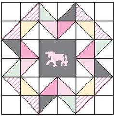 This free quilt block pattern is for the Gray Unicorn quilt block. Piecing is simple enough for confident beginners. This block is featured in the Enchanted Unicorn quilt pattern from the January/February 2016 issue of McCall's Quilting. Quilting Projects, Sewing Projects, Mccall's Quilting, Quilting Ideas, Sewing Ideas, Quilt Block Patterns, Pattern Blocks, Girls Quilts, Baby Quilts