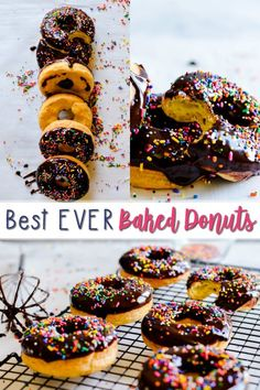 These Best Ever Baked Donuts taste like the real-deal, yeasty fried donuts you get from your favorite donut shop. These Best Ever Baked Donuts taste like the real-deal, yeasty fried donuts you get from your favorite donut shop. Top with chocolate ganache! Easy Donut Recipe, Baked Donut Recipes, Baking Recipes, Keto Recipes, Healthy Baked Donuts, Cake Donut Recipe Baked, Baking Ideas, Fried Donuts, Baked Doughnuts
