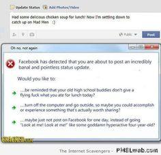 Facebook humor – A best of Facebook funnies | PMSLweb