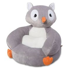 Product Image for Trend Lab® Owl Plush Character Chair in Grey 1 out of 3