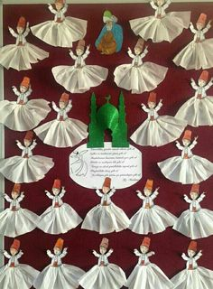"""The post """"Mevlana week"""" appeared first on Pink Unicorn activities Cartoon Ramadan Crafts, Ramadan Decorations, School Decorations, Easy Crafts For Kids, Diy And Crafts, Paper Crafts, Kindergarten Activities, Activities For Kids, Islamic Cartoon"""