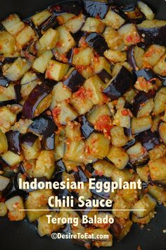 Indonesian eggplant chili sauce