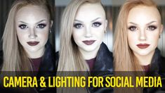 How to Get Started on Youtube & Other Social Media -- CAMERA & LIGHTING