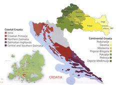 Croatia wine regions