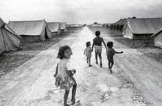 Jean Mohr. 'Greek children, Strovolos camp planned for 1,600 people, Cyprus, 1974'