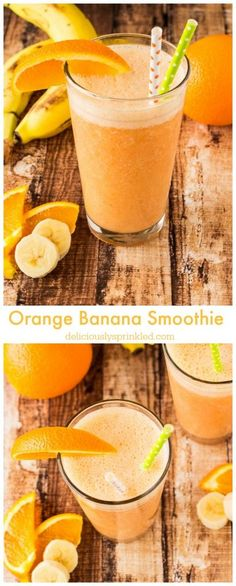 Orange Banana Smoothie an easy breakfast smoothie recipe the whole family will love!