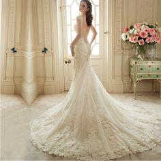 0a382bf283 101 mejores imágenes de vestido de novias sirena encaje