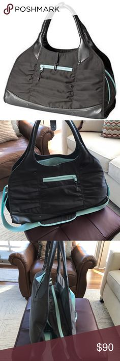 Athleta Gym Bag Very cute and practical gym bag with a yoga mat holder. In excellent condition, like brand new. Athleta Bags