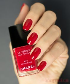 Chanel Rouge Rubis 677 swatch <3