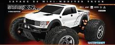 This is the HPI Brushless Electric Powered, 2.4GHz Radio Controlled Ready to Run Savage XS Flux with the Ford Raptor SVT Body. **Additional Technical Info Will Be Added When It Becomes Available.** FE
