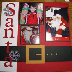 Scrapbooked Santa Layout #ygyclub #scrapbook #photofun