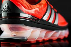 Adidas Springblade 'gazelle' running shoes revealed.   Stunning design with 16 'blades' on the soles