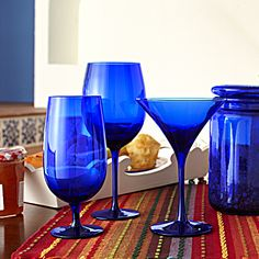 Pier 1 Cobalt Stemware-almost a neutral because it mixes with so many colors