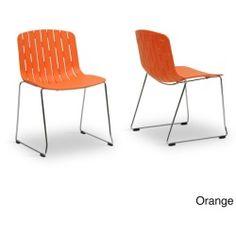 Ximena Plastic Modern Dining Chair (Set of 2)