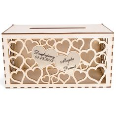 Drewniana skrzynka na koperty w15 – artMA Wedding Accessories, Decorative Boxes, Cnc, Gifts, Weddings, Home Decor, Presents, Decoration Home, Wedding Props