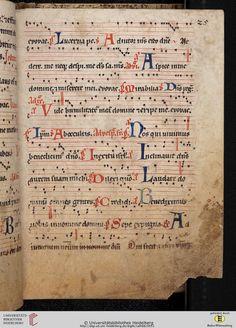 Antiphonarium Cisterciense Salem, um 1200 Cod. Sal. X,6b  Folio 25r