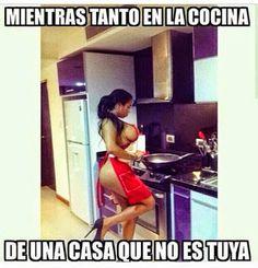 mientras tanto en una cocina que no es tuya…