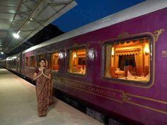 """GOLDEN CHARIOT INDE DU SUD  Bienvenue dans l'univers du """"Golden Chariot"""", le train de luxe du Karnataka. Ce train a été imaginé sur le modèle du célèbre Palace on Wheels. Partez à la découverte des sites fabuleux du Karnataka, berceau de différentes civilisations, où s'élèvent de véritables joyaux : Belur, Halebid, Hampi, Pattadakal, Badami.  Au départ de Bangalore, le train parcourt deux itinéraires différents :  - le Pride Of South-Golden Chariot Train Tour (7 nuits), entre Bangalore et…"""