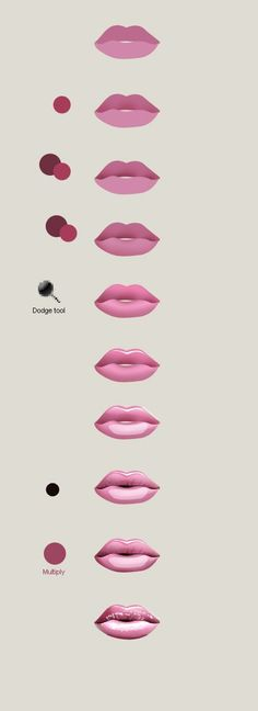 Draw lips in Photoshop in 5 min | Artdesigner.lv