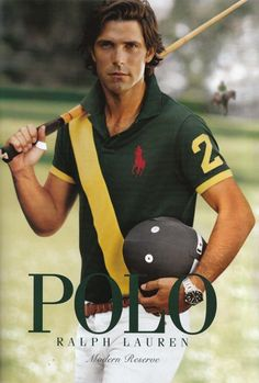 """Nacho Figueras - As of September 2009, he is ranked as one of the top 100 polo players in the world.[1] Sometimes called the """"David Beckham of polo"""", he usually plays in Argentina and in the U.S. as part of the Black Watch Polo Team. He has also been the face of Ralph Lauren's Black Label line since 2005, and was recently chosen to represent the entire line of Polo fragrances."""