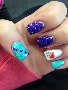 Little mermaid nails!!!  By Shelbi!!