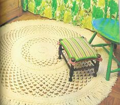 Vintage Crochet Pattern Round Rug - Shabby Chic Instant Download Pattern on Etsy